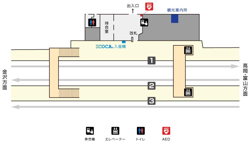 石動駅構内図
