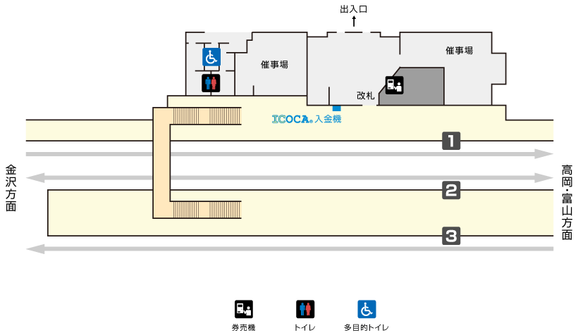 福岡駅構内図