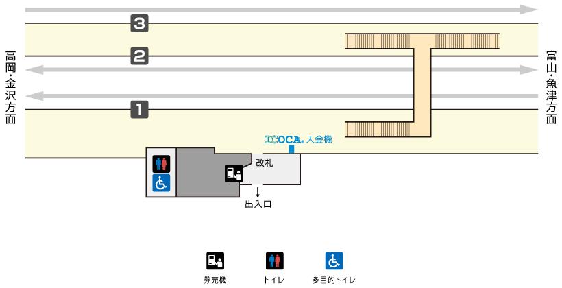 越中大門駅構内図
