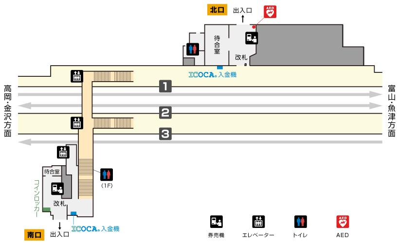 小杉駅構内図