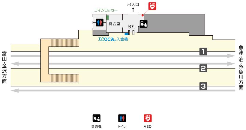 滑川駅構内図