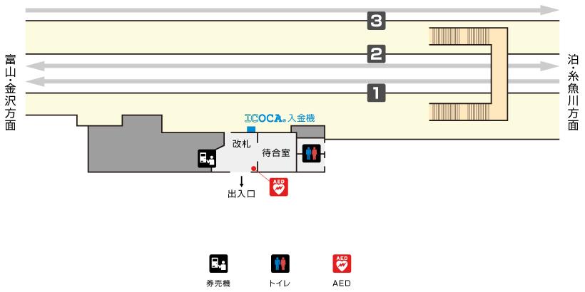 黒部駅構内図