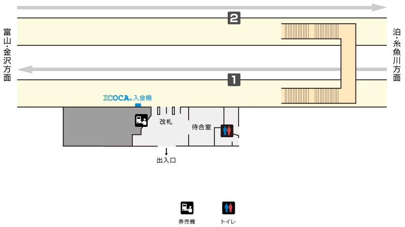 入善駅構内図