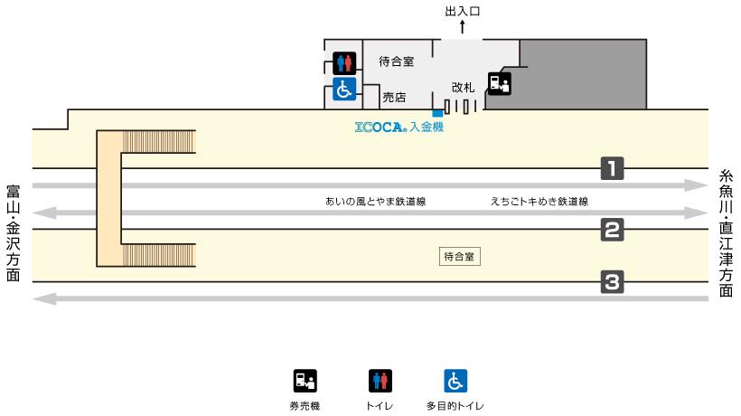 泊駅構内図