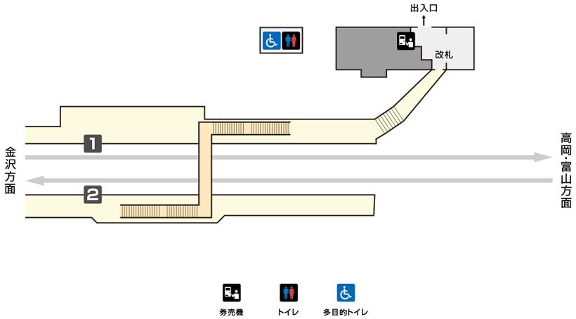 西高岡駅構内図